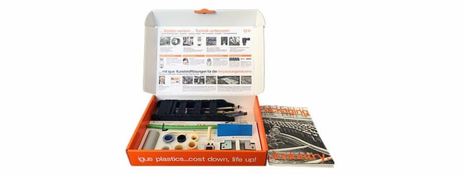 caja de muestra industria packaging