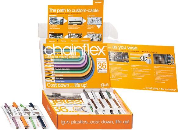 caja gratuita de muestras chainflex
