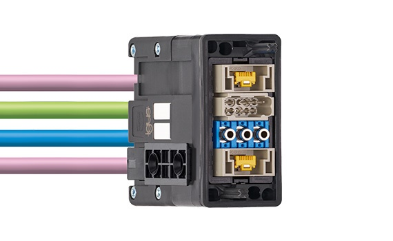 Módulo para conectores industriales
